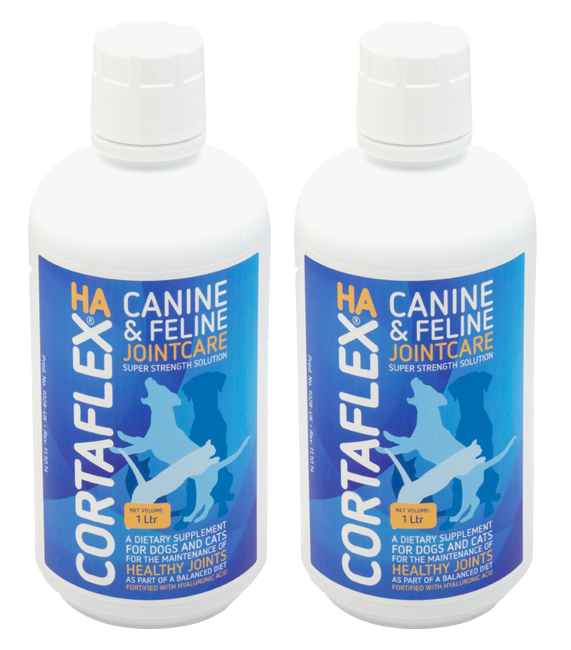 2 Bottles Canine & Feline Cortaflex Solution 1000ml