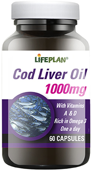 Cod Liver Oil High Strength 1000mg - 60 capsules
