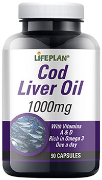 Cod Liver Oil High Strength 1000mg - 90 Capsules